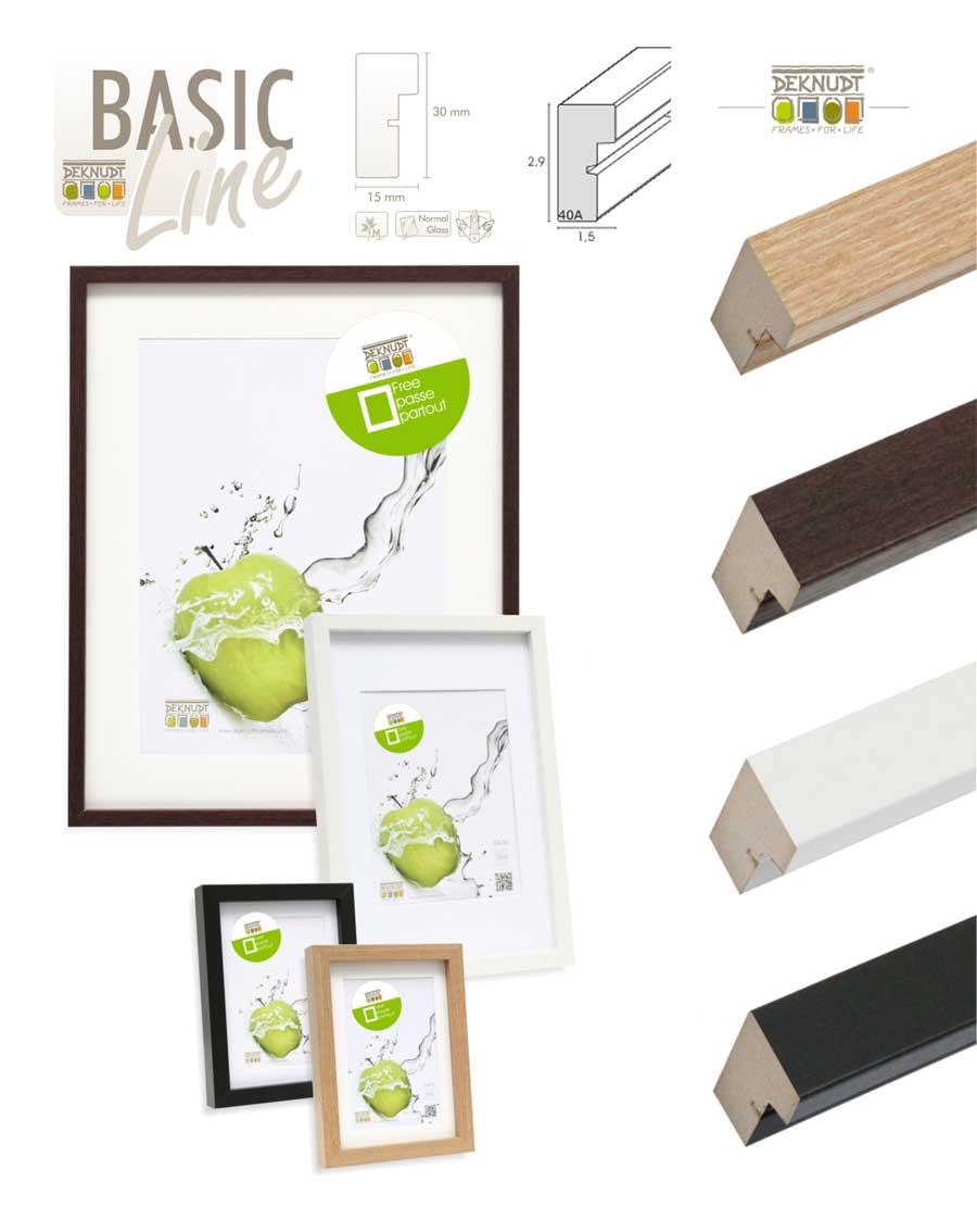 Basic Frame Holz Bilderrahmen mit Passepartout 13x18 cm bis 40x60 cm ...