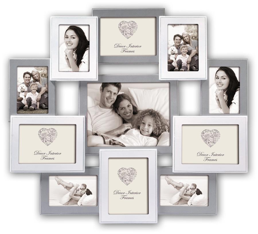 rouen bilderrahmen aus holz grau weiß für 11 fotos foto collage,