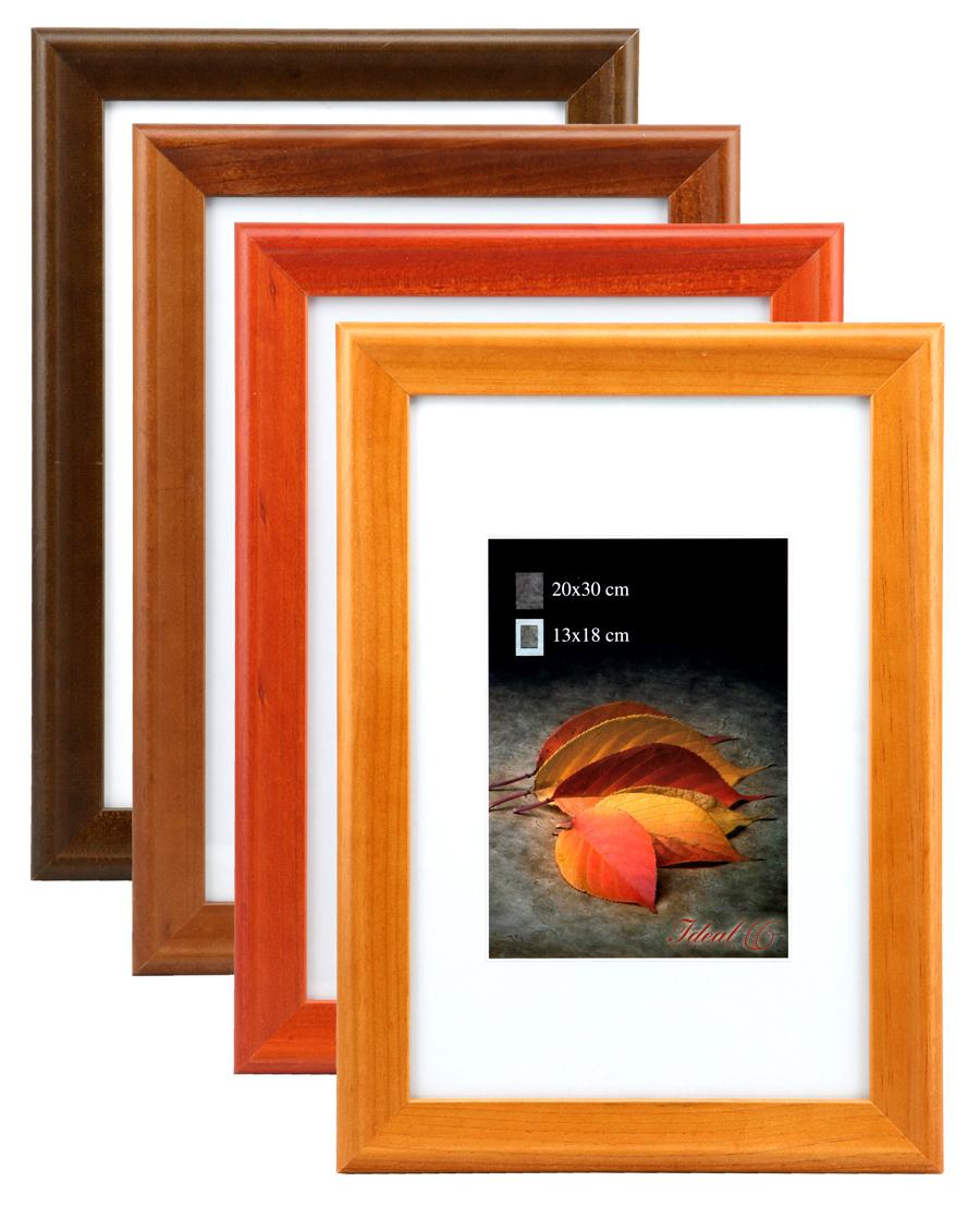 osen holz bilderrahmen in 10x15 bis 40x50 cherry eiche natur nuss foto rahmen idealfoto. Black Bedroom Furniture Sets. Home Design Ideas