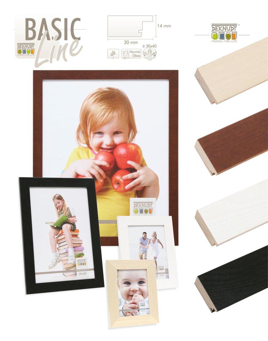 basic line bilderrahmen aus holz 10x15 bis 40x60 naturfarben foto rahmen idealfoto. Black Bedroom Furniture Sets. Home Design Ideas