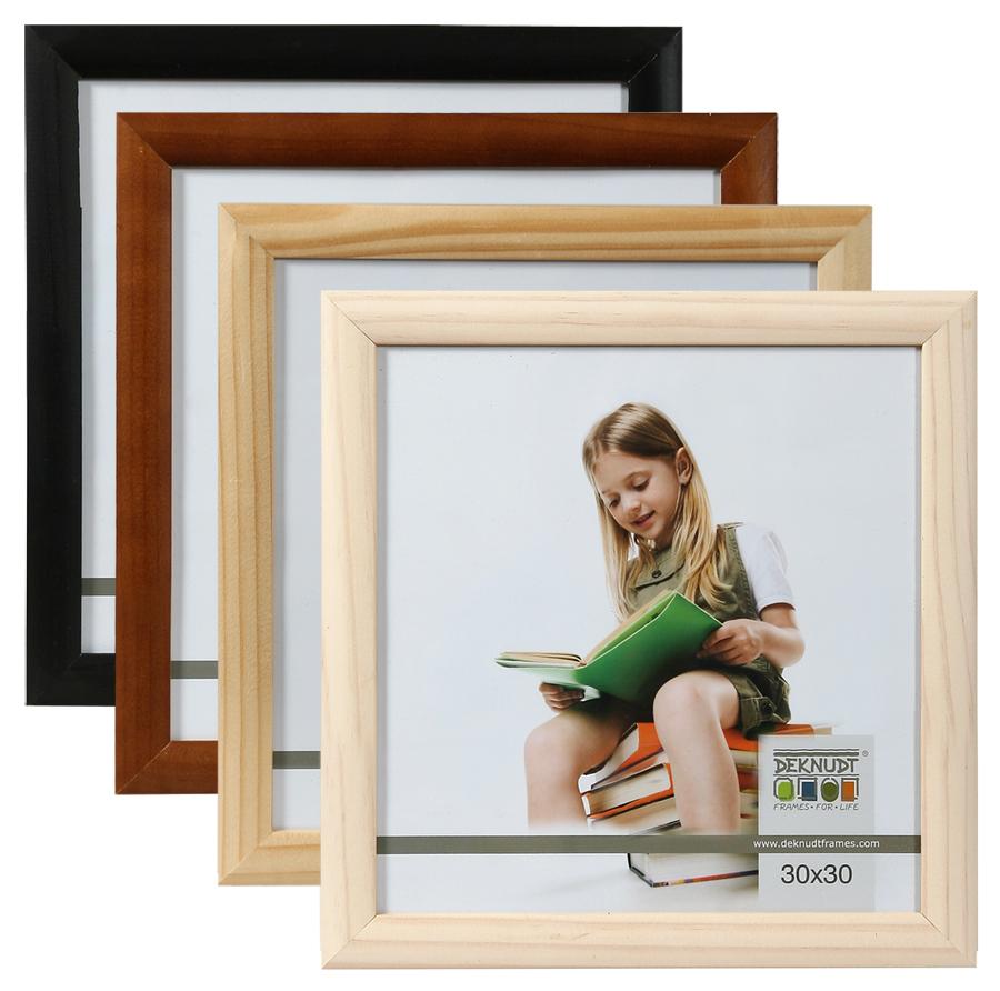 promo holz bilderrahmen 30x30 cm braun natur schwarz wei. Black Bedroom Furniture Sets. Home Design Ideas