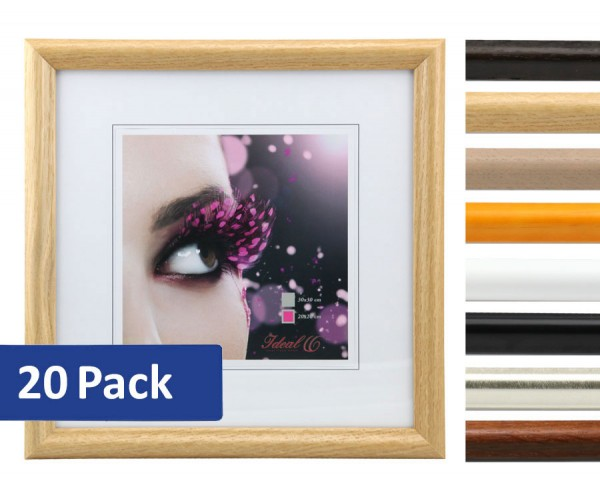 20er Set HR-22 Holz Bilderrahmen 20x20 30x30 40x40 50x50 quadratisch Foto Rahmen