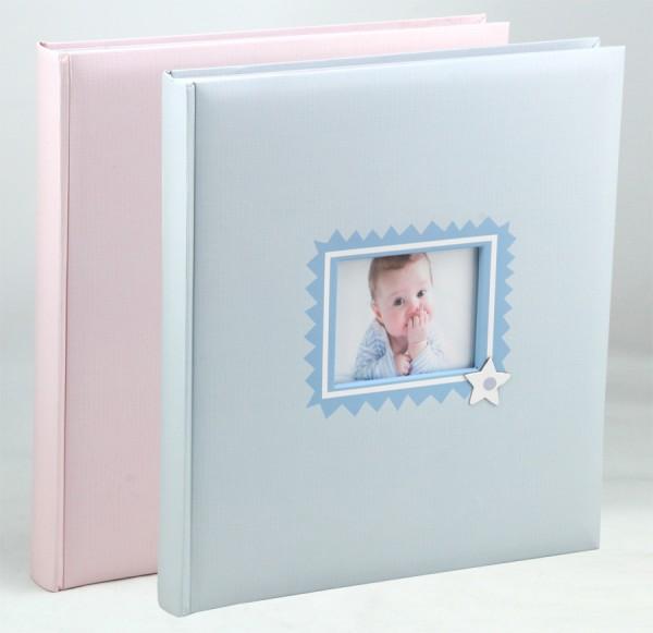 Baby\'s Laugh Fotoalbum in 29x32 cm 60 weiße Seiten Kinder Foto Album Buchalbum