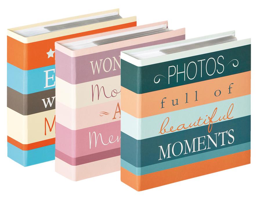 4 Fotoalben Elements für 200 Fotos 13x18 cm Einsteck Foto Album mit Ausschnitt