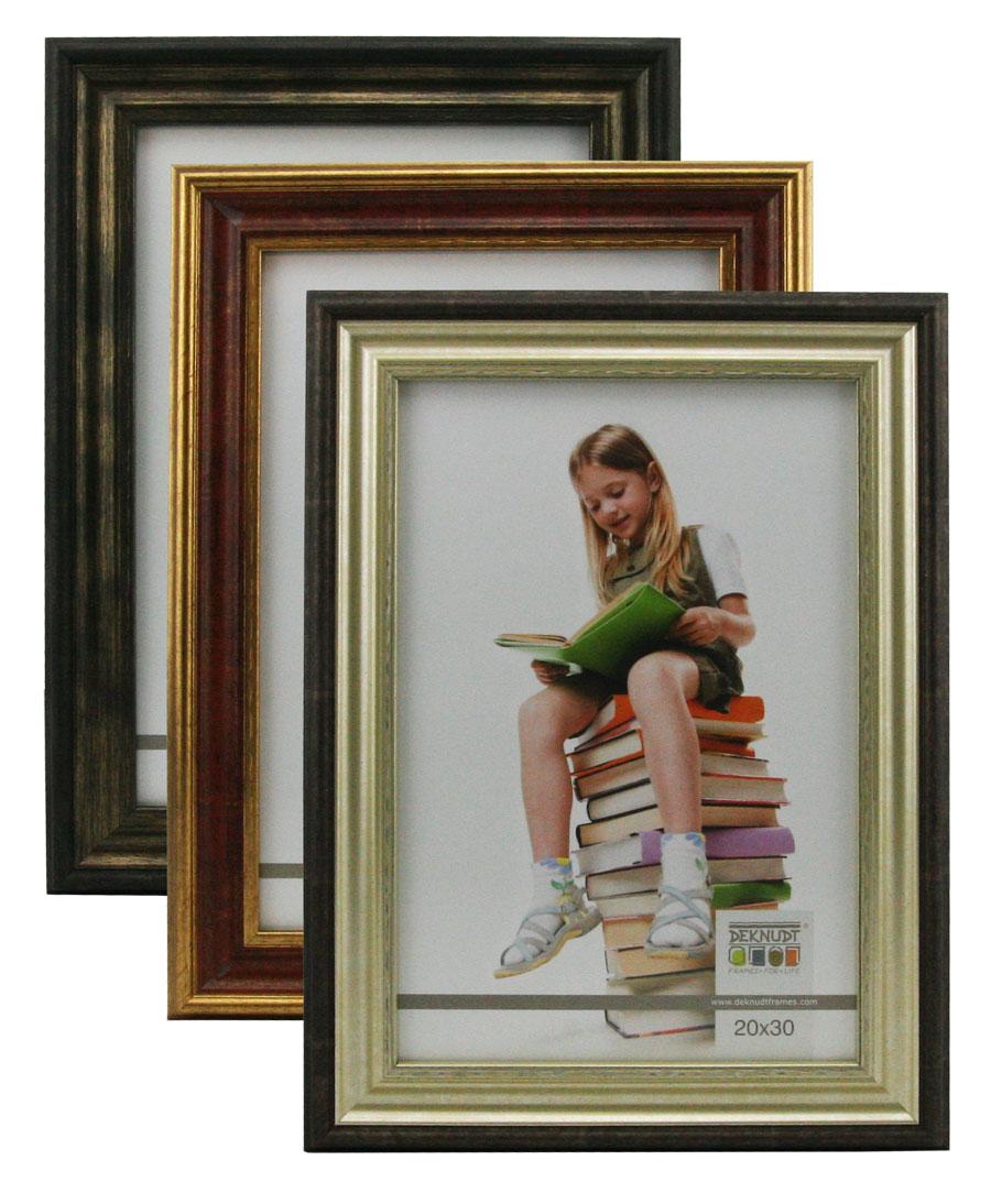 antik bilderrahmen in 13x18 cm bis 50x70 cm klassischer holz foto rahmen idealfoto. Black Bedroom Furniture Sets. Home Design Ideas
