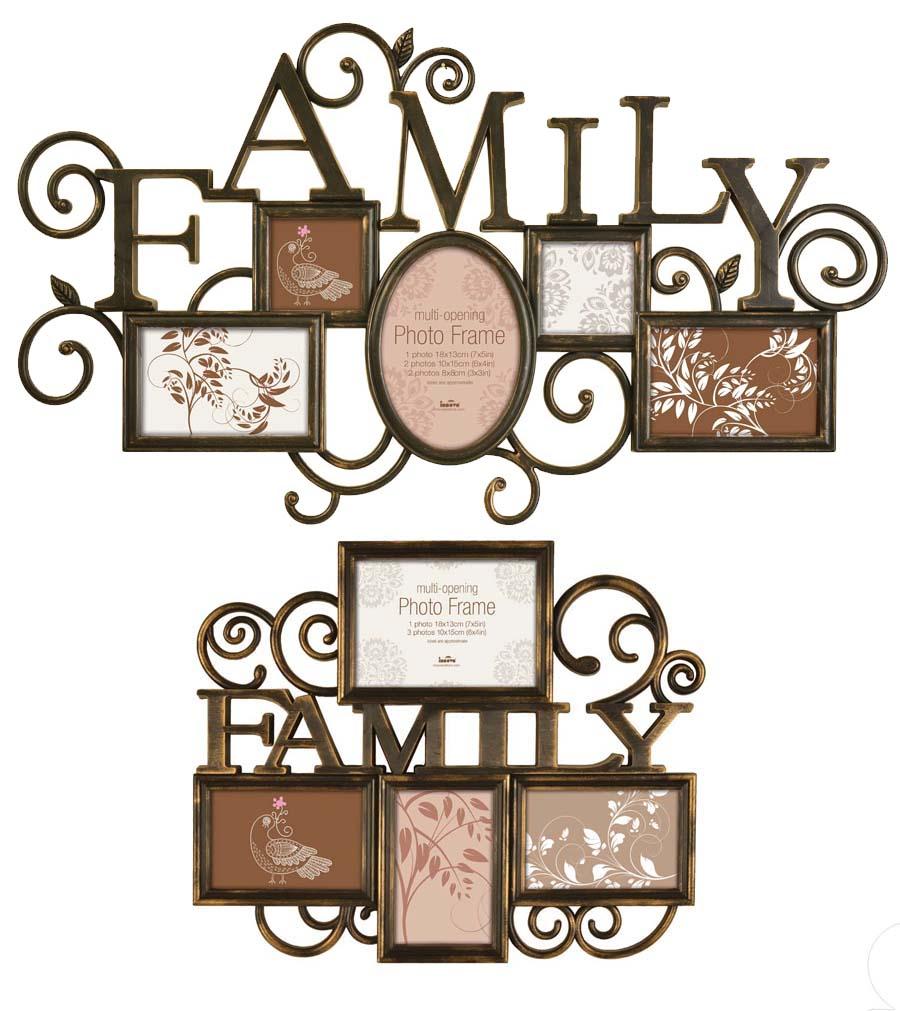 Milano Family Bilderrahmen für 4 oder 5 Fotos Galerie Foto Collage ...
