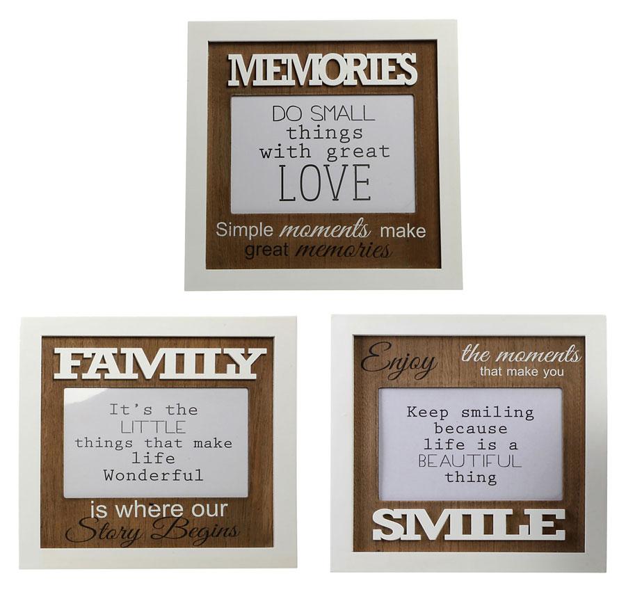 Moderne Sprüche Bilderrahmen Für 10x15 Cm Memories Family Smile Foto Rahmen