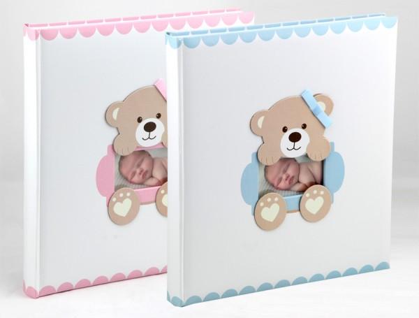 Baby\'s Loop Fotoalbum in 29x32 cm 60 weiße Seiten Kinder Foto Album Buchalbum