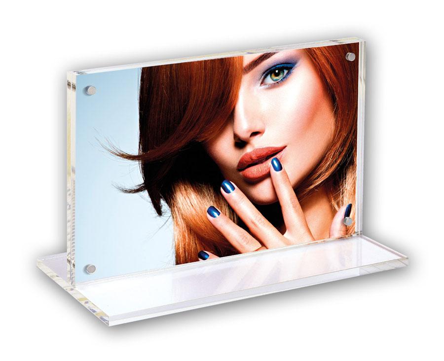 Roberta Renata Bilderrahmen Blau Rosa 10x15 13x18 Portrait Porträt Foto Rahmen