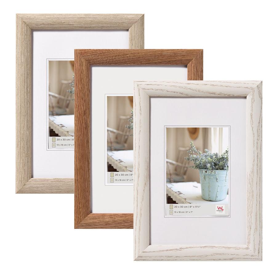 interieur holz bilderrahmen in 10x15 cm bis 50x70 cm grau nuss wei foto rahmen idealfoto. Black Bedroom Furniture Sets. Home Design Ideas
