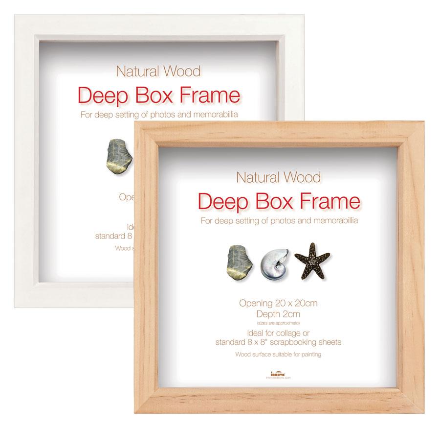 Box Frame Bilderrahmen Natur Weiß Schwarz quadratischer Objektrahmen ...