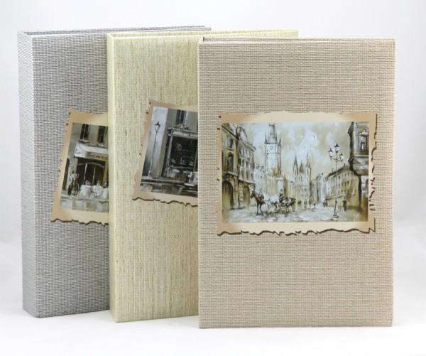 Retro Look Fotoalbum für 300 Fotos in 10x15 cm Einsteck Foto Album Memoalbum