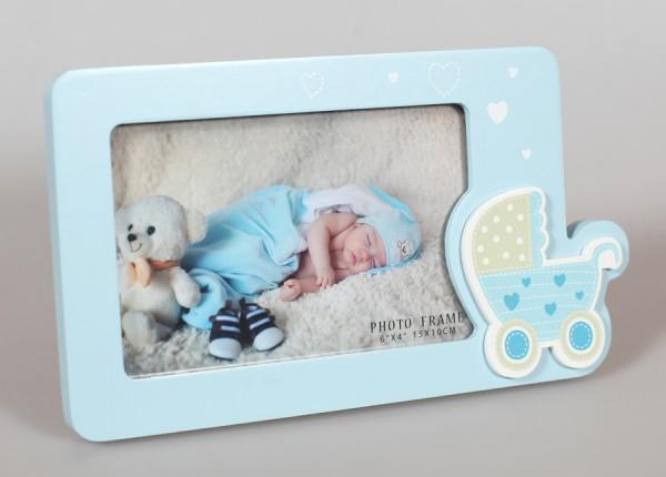 Baby on Tour Bilderrahmen in Blau 10x15 cm Baby Kinder Foto Rahmen
