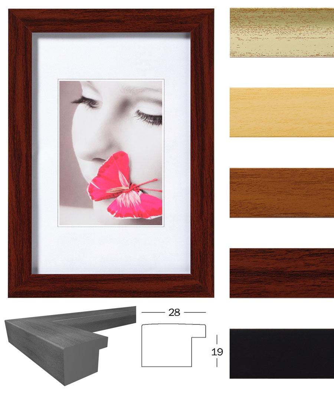 pillow bilderrahmen 10x15 bis 50x70 eiche mahagoni natur schwarz silber foto idealfoto. Black Bedroom Furniture Sets. Home Design Ideas