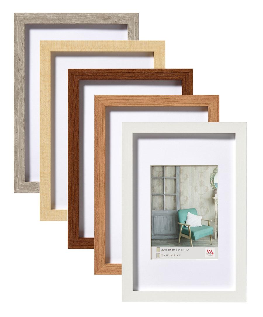 stockholm holz bilderrahmen 10x15 cm bis 50x70 cm foto rahmen mit passepartout idealfoto. Black Bedroom Furniture Sets. Home Design Ideas