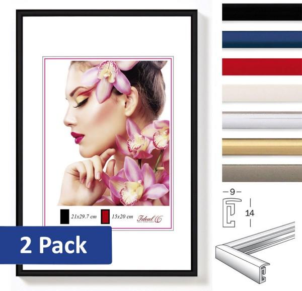 2er Set Ideal Light Kunststoff Bilderrahmen 20x30 bis 50x70 Bilder Foto Rahmen