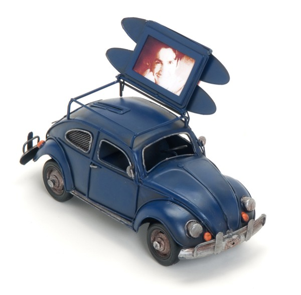 Car XII Bilderrahmen Spardose aus Metall für 5x8 cm Antik Deko Auto Foto Rahmen