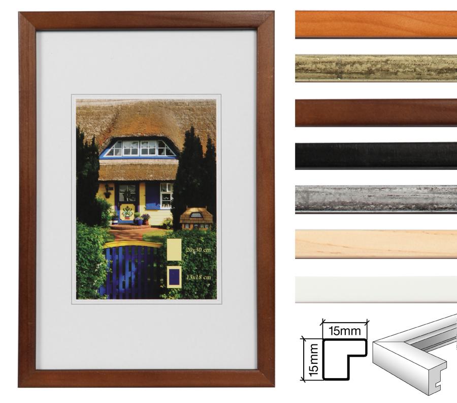 emily holz bilderrahmen 10x15 bis 40x50 in sieben farben foto rahmen idealfoto. Black Bedroom Furniture Sets. Home Design Ideas