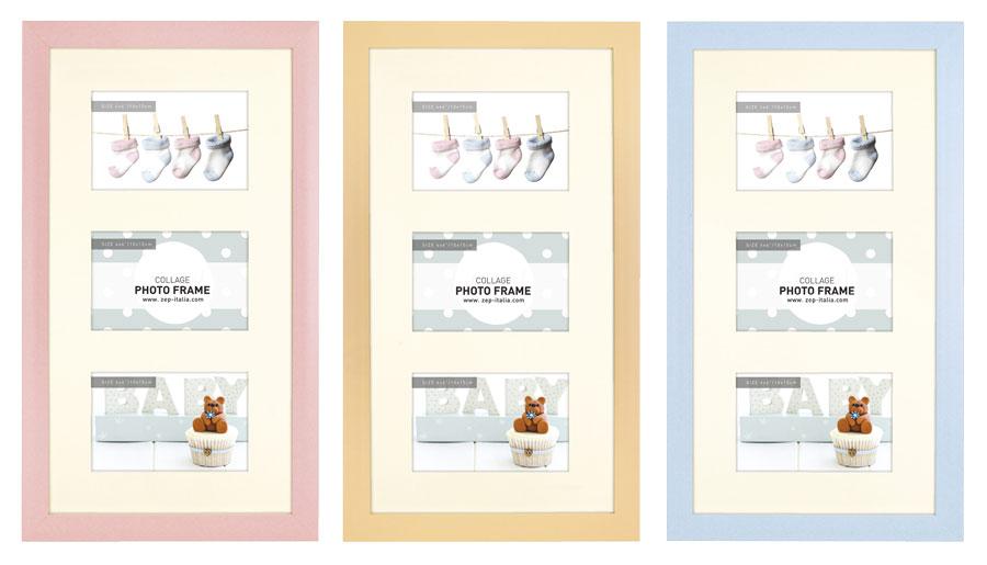 emma bilderrahmen f r 3 fotos in 10x15 cm galerie kinder foto collage idealfoto. Black Bedroom Furniture Sets. Home Design Ideas