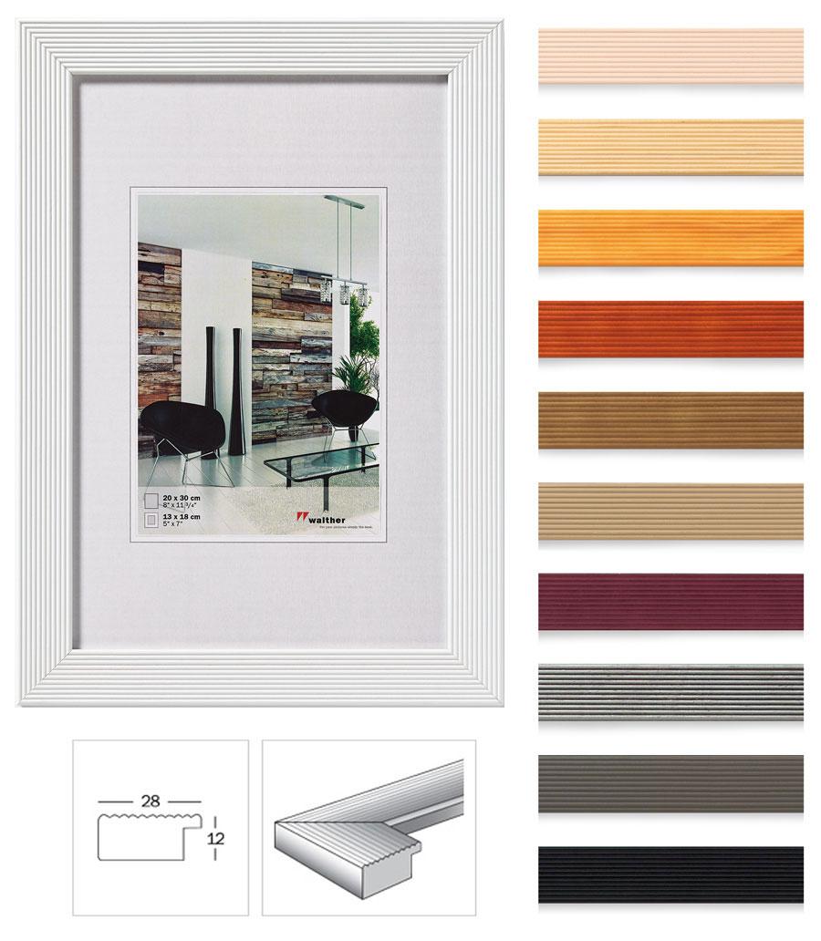 grado holz bilderrahmen 10x15 cm bis 60x80 cm 10 farben bilder foto rahmen idealfoto. Black Bedroom Furniture Sets. Home Design Ideas