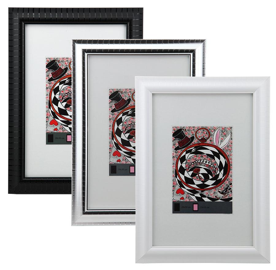 Cantone Bilderrahmen in 13x18 bis 40x50 Bronze Schwarz Silber Weiß Foto Rahmen